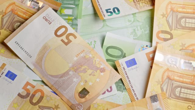 Different Euro-banknotes turning Turning shot of different Euro-banknotes. european union currency stock videos & royalty-free footage