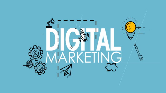 Different icons for digital marketing concept