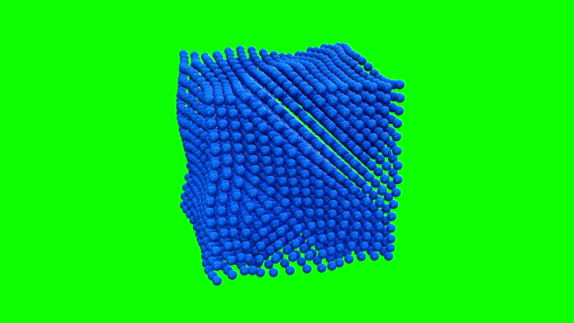 Different states of matter - solid 3d motion diagram. Set of matter chemistry water, illustration of ice.