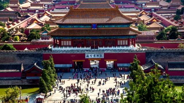 Different view to the back entrance of the Palace Museum, Beijing, China video