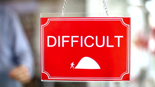 Difficult - Easy Sign video