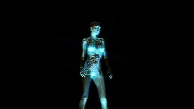 Digital 3D Animation of the female human Anatomy video