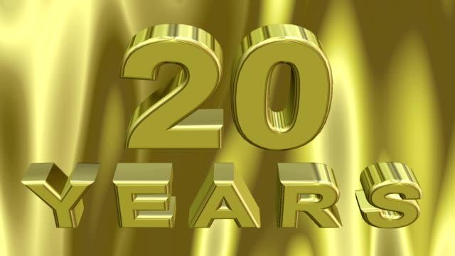 vídeos de stock, filmes e b-roll de animação digital 3d jubileu - 20 24 anos