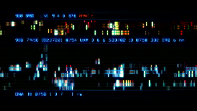 Arrière-plan abstrait numérique - Vidéo