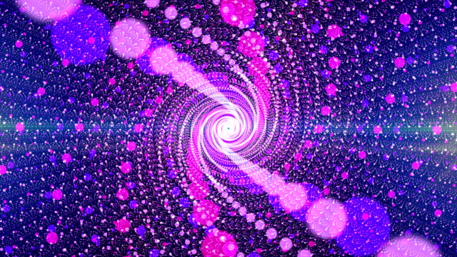 Digital abstract particles twist  background video