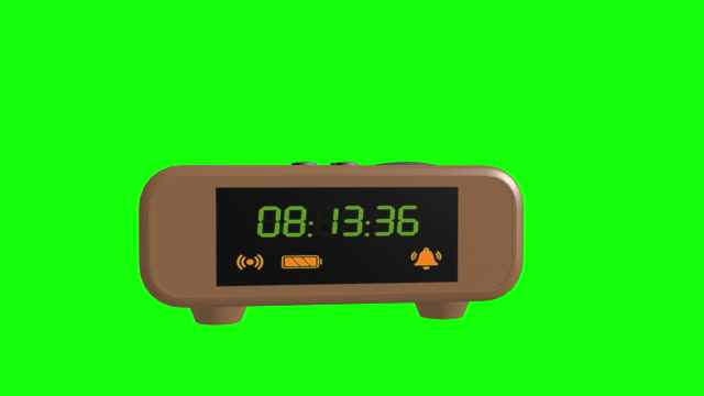 Digital Alarm Clock Alpha footage Included
