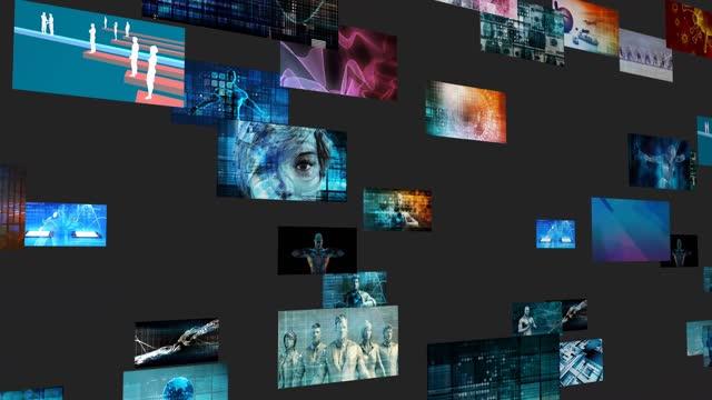 Digital Analytics Intelligent Data Strategy Background Concept