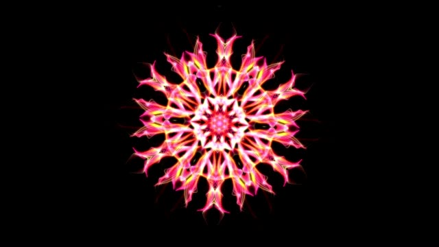 digital animering av en kalejdoskopisk mandala - mandala bildbanksvideor och videomaterial från bakom kulisserna