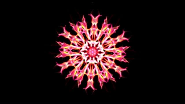 digital animation of a kaleidoscopic mandala - мандала стоковые видео и кадры b-roll