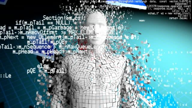 digital animation of a man - rappresentazione umana video stock e b–roll