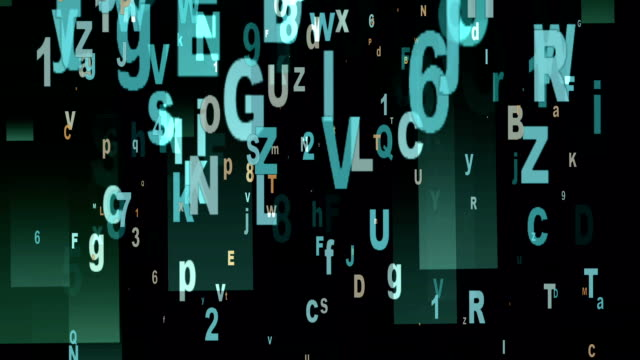 Digital Animation of Letters and Numbers - video