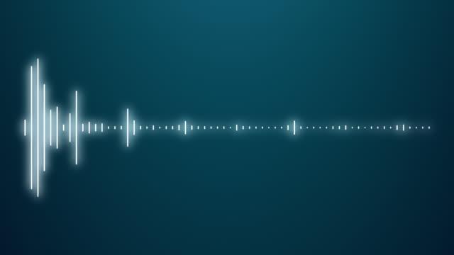 デジタルオーディオスペクトルサウンドイコライザー効果 - 音波点の映像素材/bロール