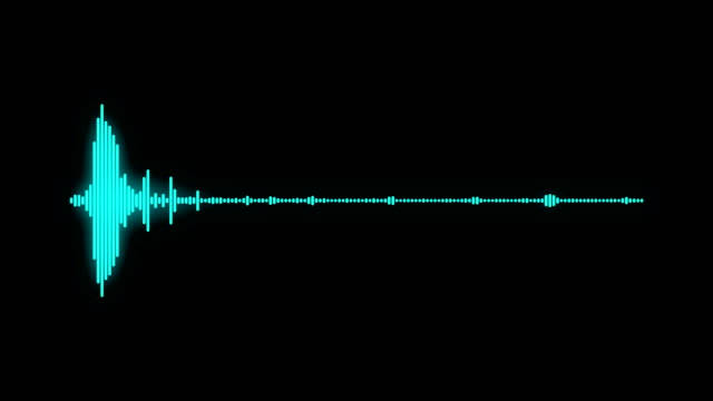digital audio spectrum sound wave effect digital audio spectrum sound wave effect, black background wave pattern stock videos & royalty-free footage