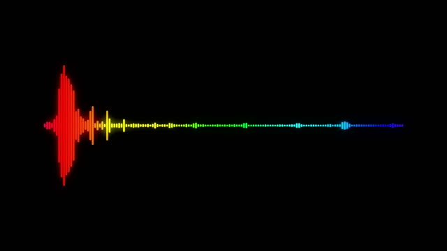 digitale audio-spektrum schallwelle effekt - sound wave stock-videos und b-roll-filmmaterial