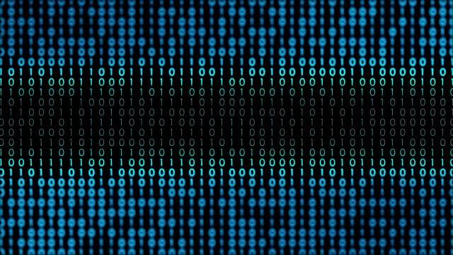 vídeos de stock e filmes b-roll de 4k digital background (loopable) - código binário