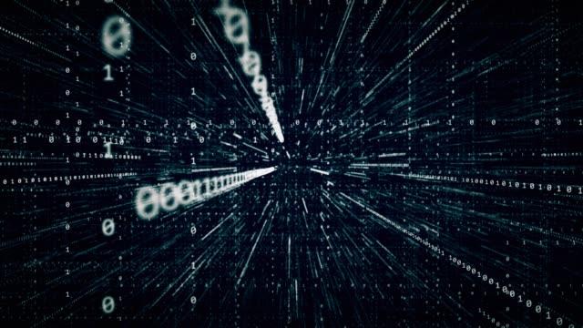 digitale binärcode-hintergrund - montage filmtechnik stock-videos und b-roll-filmmaterial