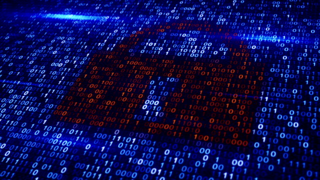 digital binary code lock loopable background video