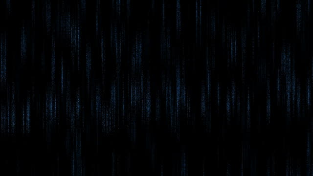Digital blue rain video