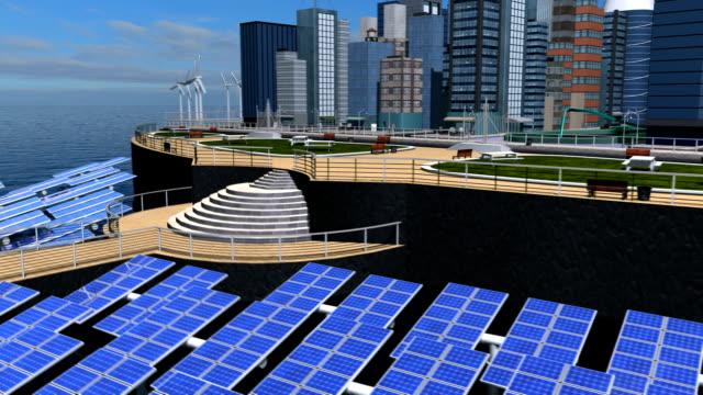 Digital CG Concept Future Solar City video