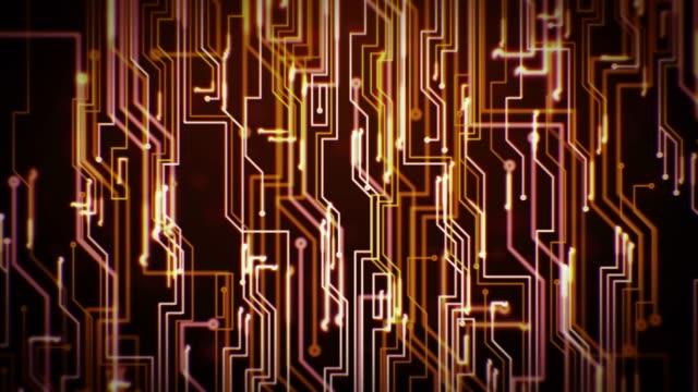 Digital Circuit Loop - Warm Colors