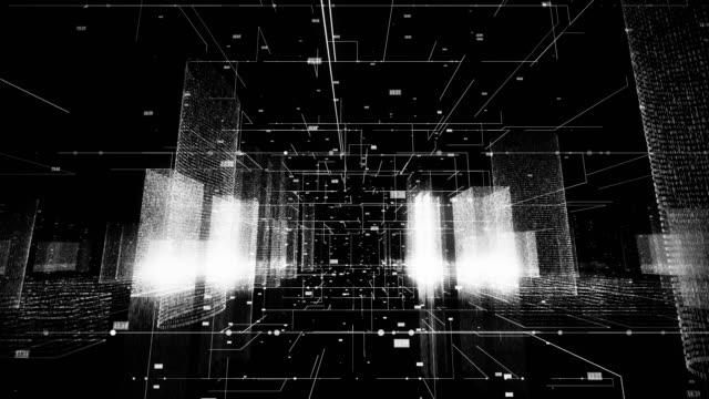 デジタルシティ - クラウドコンピューティング点の映像素材/bロール