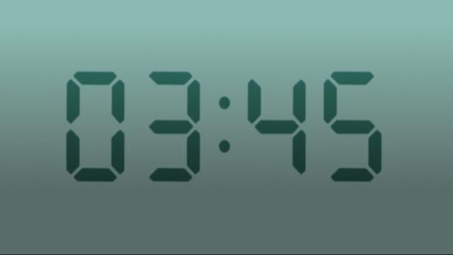 Digital clock. 1 frame per minute. Loopable. Gray. video