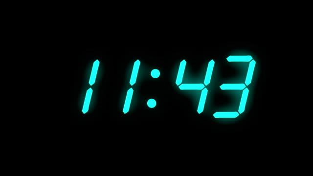 Digital clock count 12h - full HD - LCD display video