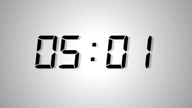 Digital clock count of 20 seconds