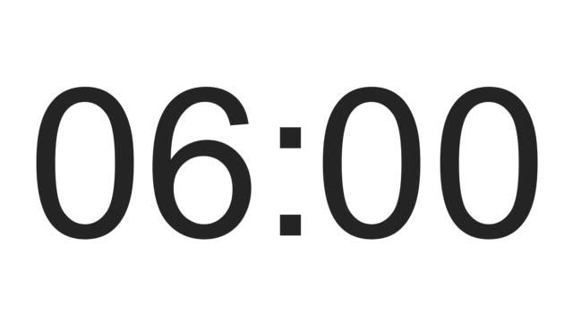 digital clock full 24h time-lapse video