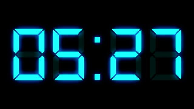 Digital clock timer full AM time-lapse video