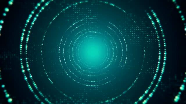 vídeos de stock e filmes b-roll de digital code falling and computer hacker tunnel 4k - bit código binário