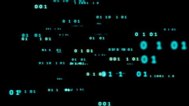 digital code number abstract background 4k looping footage video