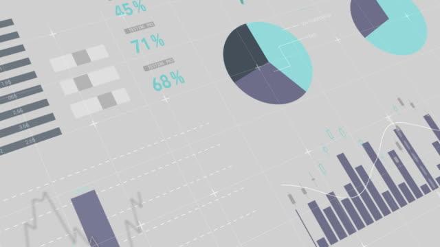 vídeos y material grabado en eventos de stock de compuesto digital de gráficos financieros 4k - tabla medios visuales
