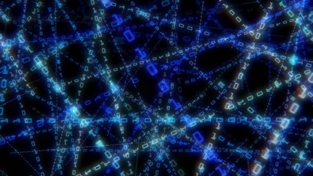 デジタルコンピュータコードのデータマトリクス 4 k - スーパーコンピューター点の映像素材/bロール