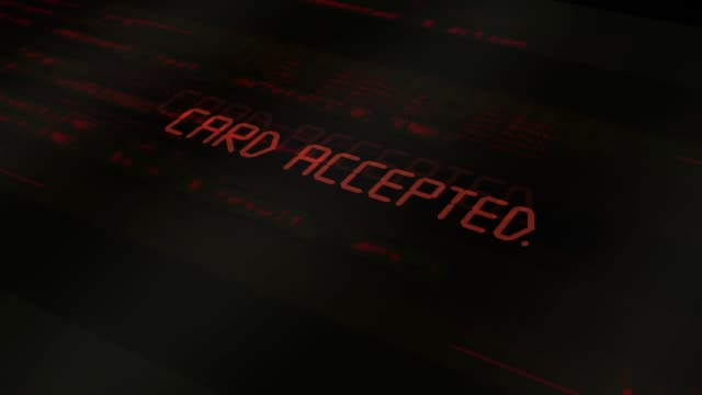digital computer typography series - card accepted - fraud stock videos & royalty-free footage