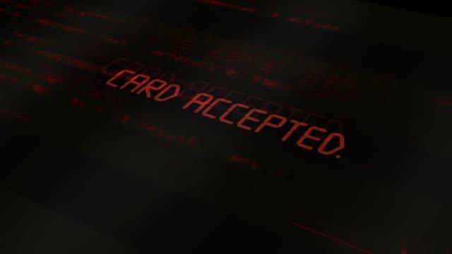 digital computer typography series - card accepted - credit card filmów i materiałów b-roll