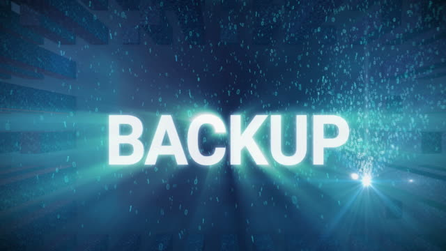 Digital Concept Backup Seamless looping 3d animated digital maze with the word Backup in 4K resolution backup stock videos & royalty-free footage