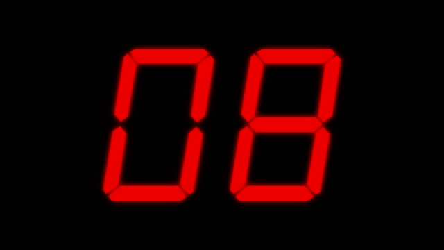 digital countdown - un singolo oggetto video stock e b–roll