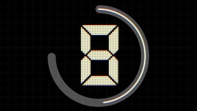 digital conto alla rovescia - conto alla rovescia video stock e b–roll