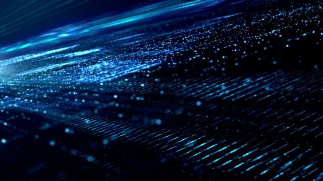 digital cyber space particles - grafika komputerowa filmów i materiałów b-roll
