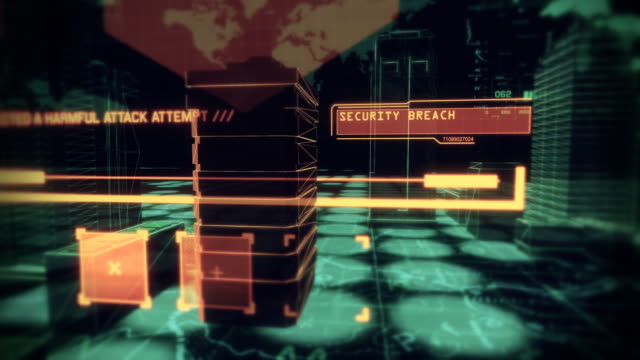 Digital Cybernetic City Security Breach, PART 1 - Stock video