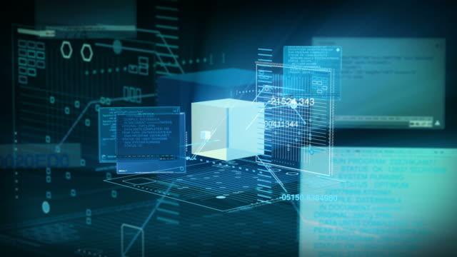 Digital Data Code Network Interface Technology 4K video