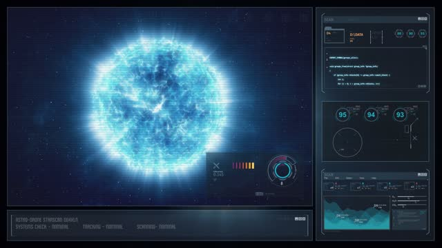 Digital Display Sci-Fi HUD - Blue Star video