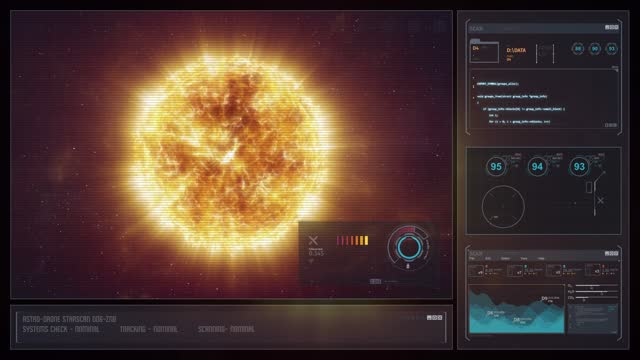 Digital Display Sci-Fi HUD - Orange Star video