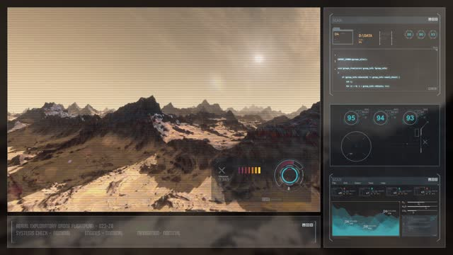 Digital Display Sci-Fi HUD - Surface of an Alien Planet video