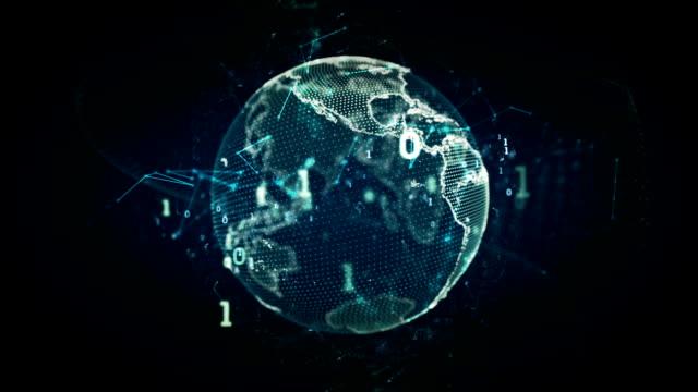 Digital Earth Blue video