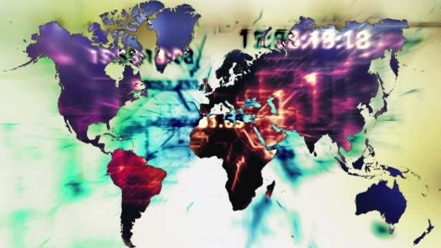 Digitalen Welt Karte mit Raster – Video