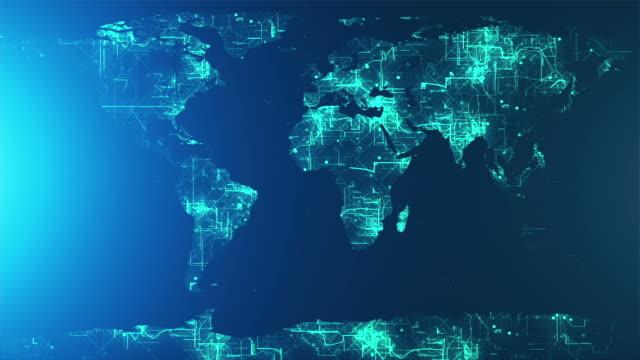 cyfrowy ziemi mapa - państwo lokalizacja geograficzna filmów i materiałów b-roll