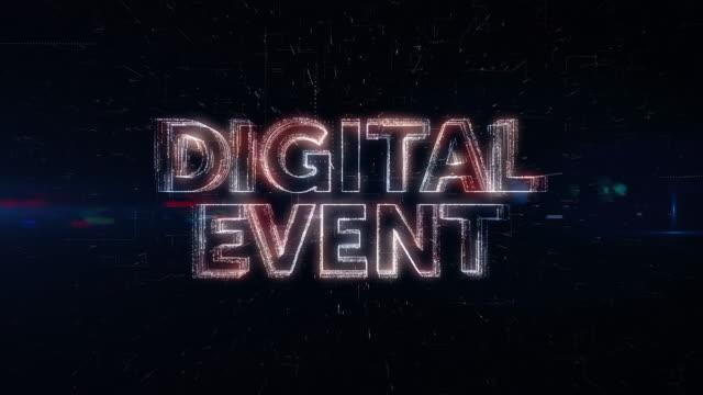 Digital Event words animation video