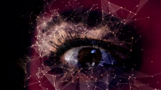 digitala öga - föreställningsförmåga bildbanksvideor och videomaterial från bakom kulisserna